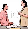 Realistic Style-Two Ethnic Women at Work clipart