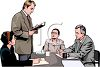 Realistic Style-People at a Meeting clipart