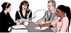Realistic Style-Office Meeting  clipart