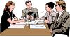 Realistic Style-People at a Meeting at Work clipart