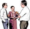 Realistic Style-Cocktail Party for an Office Staff clipart