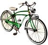 Vintage Bicycle with Fenders clipart