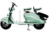 European Touring Motorscooter clipart