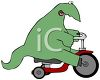 Dinosaur Riding a Tricycle clipart