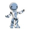 Cute Robot Holding Out His Arms clipart