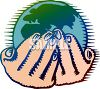 Cliche Of Holding The World In Your Hands clipart