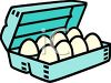 A Dozen Eggs In A Carton clipart