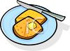 A Plate of Buttery French Toast clipart