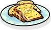 Three Slices Of Cinnamon Raisin French Toast clipart
