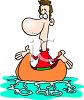 Metaphor Of Up A Creek Without A Paddle clipart