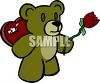 A Teddy Bear Holding Valentines Gifts clipart