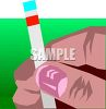 Hand Holding a PH Test Strip clipart