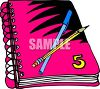 Spiral Notebook with a Pen and Pencil clipart