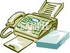 Multi-Line Telephone and Fax Machine clipart