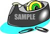 Cellophane Tape Dispenser clipart