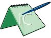 Spiral Notepad and Pen clipart