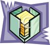 Note Paper Dispenser clipart
