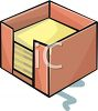 Stack of Note Papers in a Container clipart