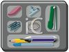 Desk Drawer Full of Office Supplies clipart