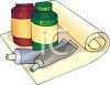 Tubes and Jars of Art Paints clipart