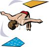 Guy Jumping Off a Diving Board clipart