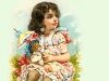 Victorian Girl Holding Her Doll clipart