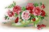 Victorian Ladie's Shoe Filled with Roses clipart