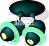 A Futuristic Directional Lamp clipart