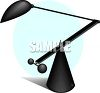 An Artistic Desk Lamp clipart