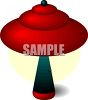 A UFO Lamp clipart