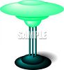 A Bright Glass Lamp clipart
