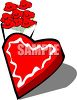 A Bouquet of Roses And A Box Of Valentine Chocolates clipart