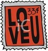 Love Postage Stamp clipart