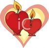 Heart Shaped Candles clipart