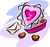 A Heart Shaped Box Of Chocolates clipart
