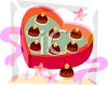 A Heart Shaped Box Of Chocolate Candies clipart
