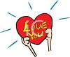 Hands Holding A Heart That Says Love You clipart