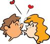 A Couple Kissing Each Other clipart