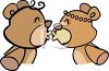 Teddy Bears Kissing clipart