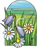 Bluebells And Daisies In A Field clipart