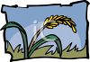 Wheat Blowing in the Wind clipart