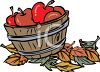 Basket of Fall Apples clipart