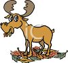 Moose Eating Leaves clipart
