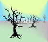 Silhouettes of Winter Trees clipart