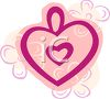 Heart Design with Flowers clipart
