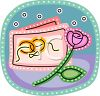Wedding Invitation with a Rose clipart