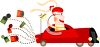 Bride Driving Away in the Wedding Car clipart