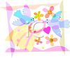 Doves and Flowers Wedding Graphic clipart