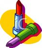 Red and Purple Lipsticks clipart
