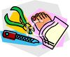 Pedicure Items clipart